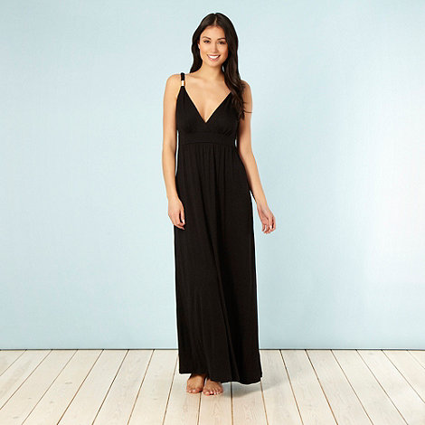 Beach Collection - Black jersey maxi dress