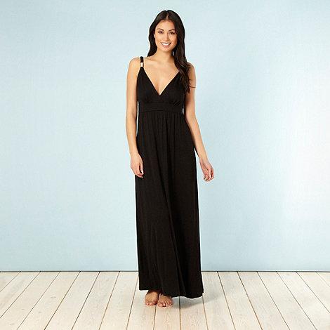 Beach Collection - Black jersey maxi dress