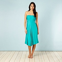 Beach Collection - Green multiway bandeau beach dress