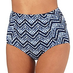 Beach Collection - Blue ikat print bikini bottoms