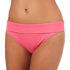 Beach Collection - Pink folded waist bikini bottoms