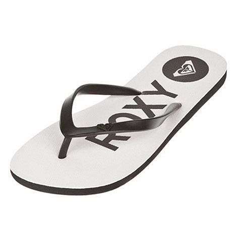 Roxy - White +base+ flip flops