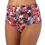 Pink oriental blossom tummy control bottoms
