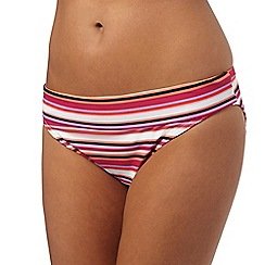 Beach Collection - Multi-coloured striped print fold bottoms