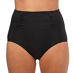Beach Collection - Black high waisted bikini bottoms