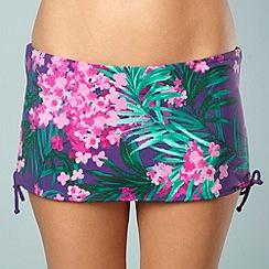 Gorgeous DD+ - Purple floral tie side bikini bottoms