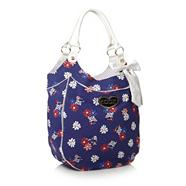 Navy Large Daisy Shoulder Bag