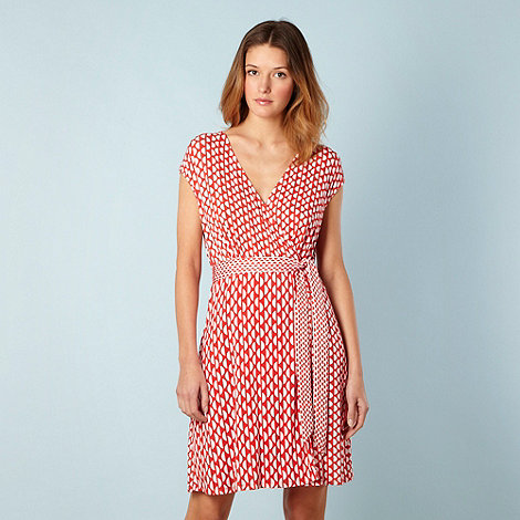 Principles by Ben de Lisi - Designer red semi circles wrap beach dress