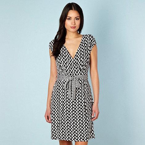 Principles by Ben de Lisi - Designer black semi circles wrap beach dress