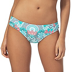 Mantaray - Blue floral print bikini bottoms