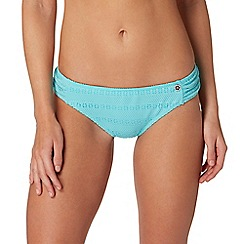 Mantaray - Turquoise crochet bikini bottoms