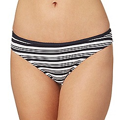 J by Jasper Conran - Navy striped bikini bottoms