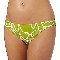 J by Jasper Conran - Dark yellow floral print bikini bottoms