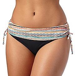 Gorgeous DD+ - Multi-coloured printed colour block fold over bikini bottoms