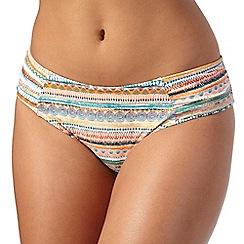 Gorgeous DD+ - Multi-coloured printed bikini bottoms