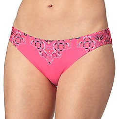 Butterfly by Matthew Williamson - Pink border print bikini bottoms
