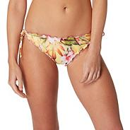 Yellow tropical floral print bikini bottoms