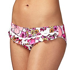 Floozie by Frost French - Multi-coloured neon floral print bikini bottoms