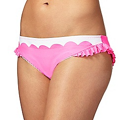 Floozie by Frost French - Pink scalloped trim bikini bottoms