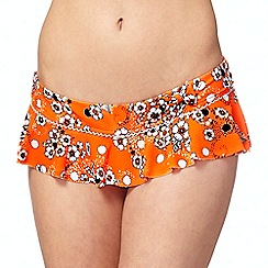 Floozie by Frost French - Orange neon floral skirt bottoms