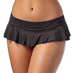 Gorgeous DD+ - Black gold striped skirt bikini bottoms