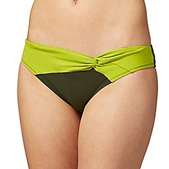 J by Jasper Conran - Khaki colour block swim bottoms