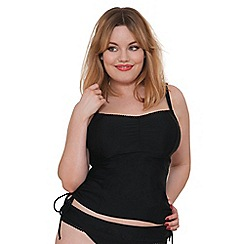 Curvy Kate - Black 'Jetty' padded tankini