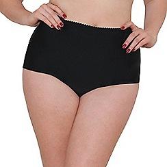 Curvy Kate - Black 'Jetty' high waisted tummy control briefs