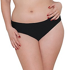 Curvy Kate - Black 'Jetty' fold over brief
