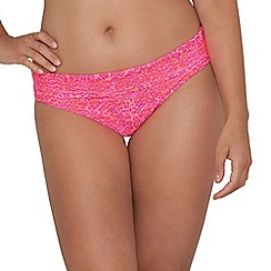 Curvy Kate - Pink 'Daze' fold over brief