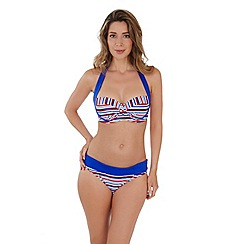 Lepel - Stripe 'sailor' moulded halter bandeau bikini top