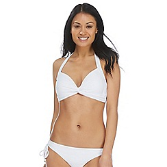 Reger by Janet Reger - White knot halter neck bikini top