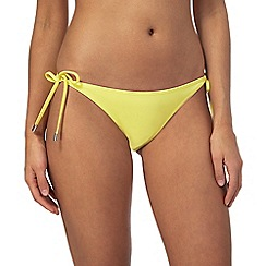 Red Herring - Yellow self-tie bikini bottoms