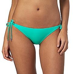 Red Herring - Green self-tie bikini bottoms