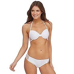 Red Herring - White mesh halter neck underwired bikini top