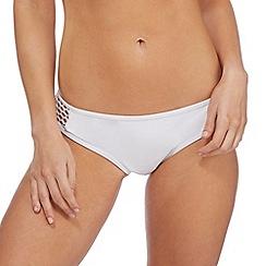Red Herring - White mesh bikini bottoms