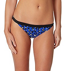 Red Herring - Blue animal print bikini bottoms