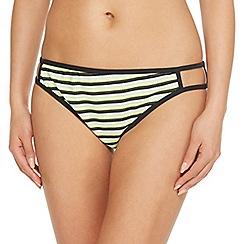 Red Herring - Green striped bikini bottoms