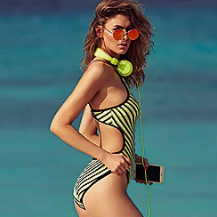 Red Herring - Green striped swimsuit