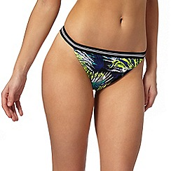 Red Herring - Black floral print bikini bottoms