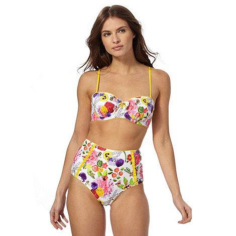 Floozie by Frost French - White English garden underwire bikini top