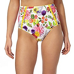 Floozie by Frost French - White 'English Garden' high waisted briefs