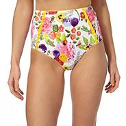 White 'English Garden' high waisted tummy control briefs