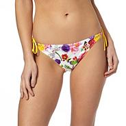 White English garden bikini bottoms