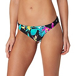 Butterfly by Matthew Williamson - Black tropical floral print bikini bottoms