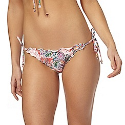 Butterfly by Matthew Williamson - Coral lettuce edge bikini bottoms