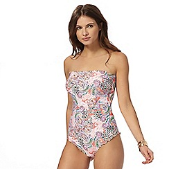Butterfly by Matthew Williamson - Multi paisley lettuce edge tummy control swimsuit