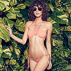 Butterfly by Matthew Williamson - Coral embellished bikini bottoms