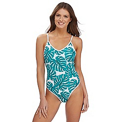 Red Herring - Green leaf print swimsuit