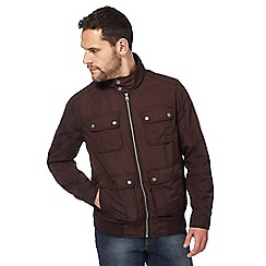 RJR.John Rocha - Dark red Harrington jacket